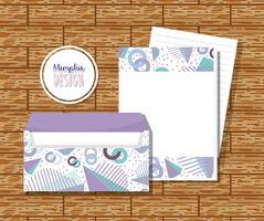 Envelopes de Memphis mock up