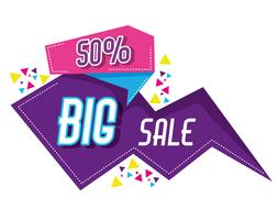 Cartaz de estilo memphis grande venda