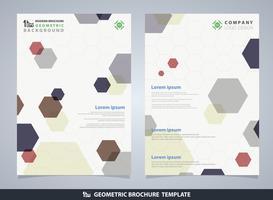 Modelo de design de brochura padrão geométrico abstrato colorido Pentágono.