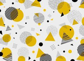 As cores pretas amarelas geométricas abstratas modelam a decoração moderna. Você pode usar para design de arte, anúncio, cartaz, folheto, relatório de capa. vetor