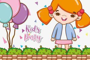 Desenhos de festa de crianças vetor