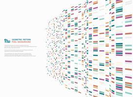 Projeto geométrico quadrado colorido moderno abstrato do teste padrão da decoração ondulada da malha da tecnologia. ilustração vetorial eps10 vetor