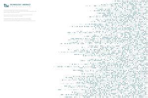 Linha grande tecnologia fundo abstrato azul da tecnologia dos dados do teste padrão de pontos do projeto da tampa. ilustração vetorial eps10