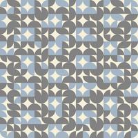 Fundo geométrico abstrato da cor do teste padrão do círculo retro. vetor