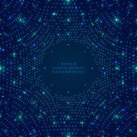 Dados grandes abstratos do fundo digital futurista da grade quadrada azul do teste padrão. vetor