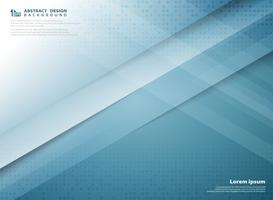 Tampa azul do projeto do corte do papel do molde da tecnologia da cor do inclinação abstrato. ilustração vetorial eps10 vetor