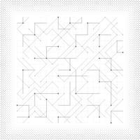 O quadrado geométrico do vetor abstrato triângulo geométrico pontilhou a tampa mínima do projeto da tecnologia. ilustração vetorial eps10
