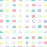 Teste padrão geométrico colorido abstrato do projeto bonito para o fundo da criança.