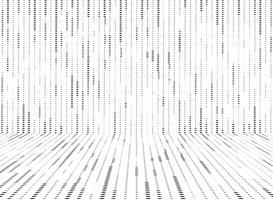 O teste padrão de pontos preto e branco abstrato do círculo alinha o fundo da decoração. ilustração vetorial eps10 vetor