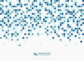 Projeto quadrado azul do teste padrão da tampa da decoração do pixel das cores verdes abstratas da tecnologia. ilustração vetorial eps10 vetor