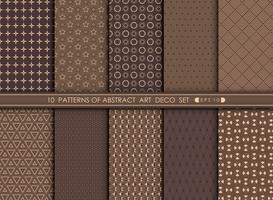 Fundo velho abstrato do projeto geométrico do teste padrão do art deco. vetor