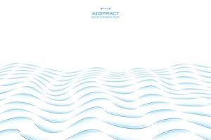 Linha abstrata projeto do teste padrão ondulado do céu azul do fundo do mar. ilustração vetorial eps10