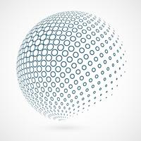Esboço abstrato do círculo global da tecnologia azul do fundo.