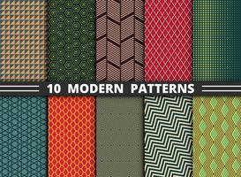 Teste padrão moderno abstrato do fundo ajustado do estilo colorido geométrico. vetor