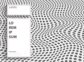 Ponto moderno abstrato do projeto da tampa de malha com espaço branco da cópia do texto. Você pode usar para o design da capa, anúncio, apresentação, relatório anual. vetor