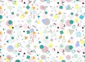 Fundo colorido geométrico moderno da forma do estilo do teste padrão de Memphis. Decoração na arte finala do projeto da abstracção para o anúncio, cartaz, envolvendo, arte finala. vetor
