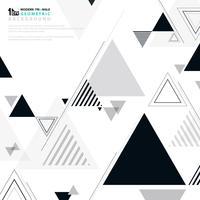 Branco geométrico do preto do projeto moderno do teste padrão da forma do fundo abstrato. vetor