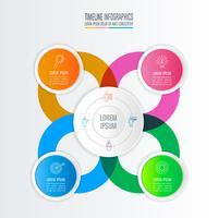 conceito de negócio de design infográfico com 4 opções.