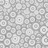 Linha preta abstrata fundo do círculo da decoração do projeto do teste padrão. Você pode usar para o trabalho artístico de abstração, imprimir, elemento de design, capa. vetor
