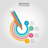 Conceito de negócio infográfico Timeline com 4 opções.