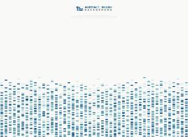 Ondas sadias do teste padrão quadrado geométrico azul abstrato. ilustração vetorial eps10 vetor