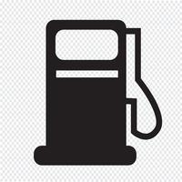Ícone de bomba de gás, ícone de estação de óleo vetor