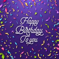 Feliz aniversario celebração tipografia cartão vetor