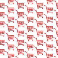 ícone de carrinho de compras de fundo padrão