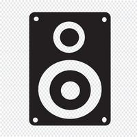 Ícone de alto-falantes de áudio vetor