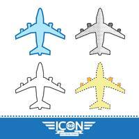 Sinal de símbolo de ícone de avião vetor