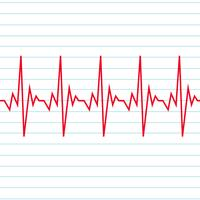 Ícone de eletrocardiograma de batida de coração vetor