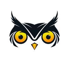 Ícone de rosto de coruja vetor