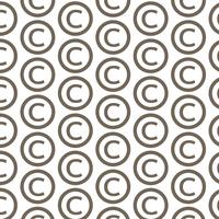 Ícone de símbolo de direitos autorais de fundo padrão vetor