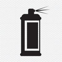 Pulverizar o símbolo do ícone vetor