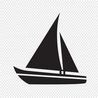 Ícone de barco à vela vetor