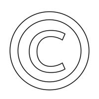 ícone de símbolo de direitos autorais