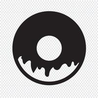 Sinal de símbolo de ícone de donut