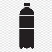 ícone de garrafa de água vetor