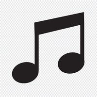 ícone de nota de música vetor