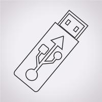 Ícone da unidade flash USB vetor