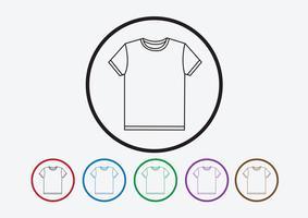 Camisa de vestuário e t-shirt ícone Ícones de vestuário