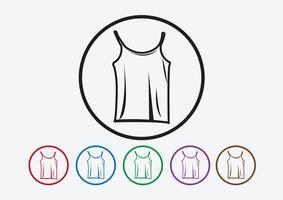 Camisa de vestuário e t-shirt ícone Ícones de vestuário vetor