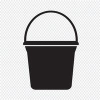 Balde ícone símbolo sinal vetor
