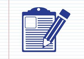 ícone de lista de verificação vetor