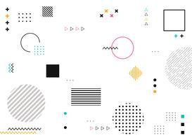 Formas geométricas abstratas de fundo colorido moderno padrão.