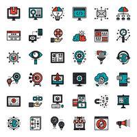ícone de marketing on-line vetor