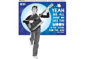 Ilustração do vetor de John Lennon