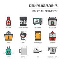 ícone de acessórios de cozinha