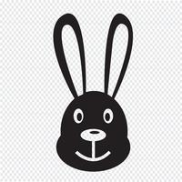 ícone de coelho vetor