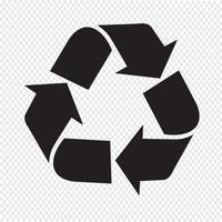 Reciclar, ícone, símbolo, sinal vetor